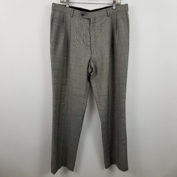 Jos. A. Bank Other - Jos A Bank Pleated Gray Glen Plaid Suit Dress Pant